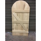 Solid Oak Ledge and Brace Door With Arch (To Template)