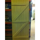 Solid Hardwood Oak Ledge and Brace Multi Board Door (Complete)